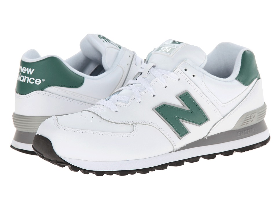 New Balance Classics - NB574 (White/Green) Men's Classic Shoes