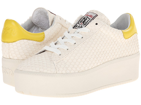 ASH - Cult (White/Acid Yellow/Puff/Nappa Wax) Women's Lace up casual Shoes