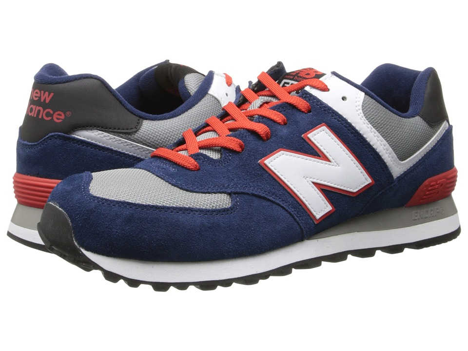 New Balance Classics - ML574 (Core Plus - Navy/Red) Men's Shoes