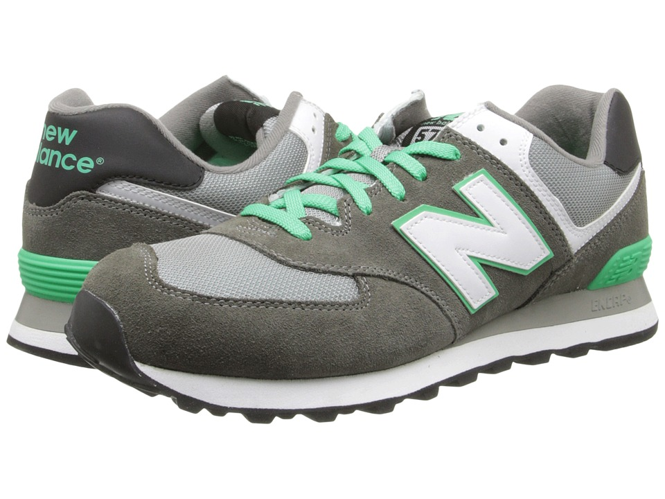 New Balance Classics - ML574 (Core Plus - Grey/Green) Men's Shoes
