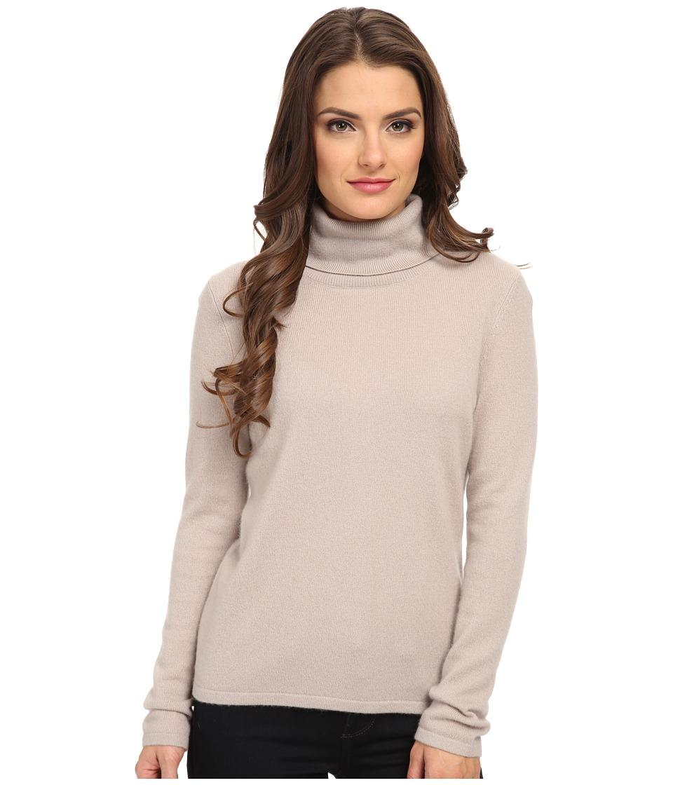 Pendleton - Petite Cr me De Cashmere Turtleneck (Fawn) Women's Sweater