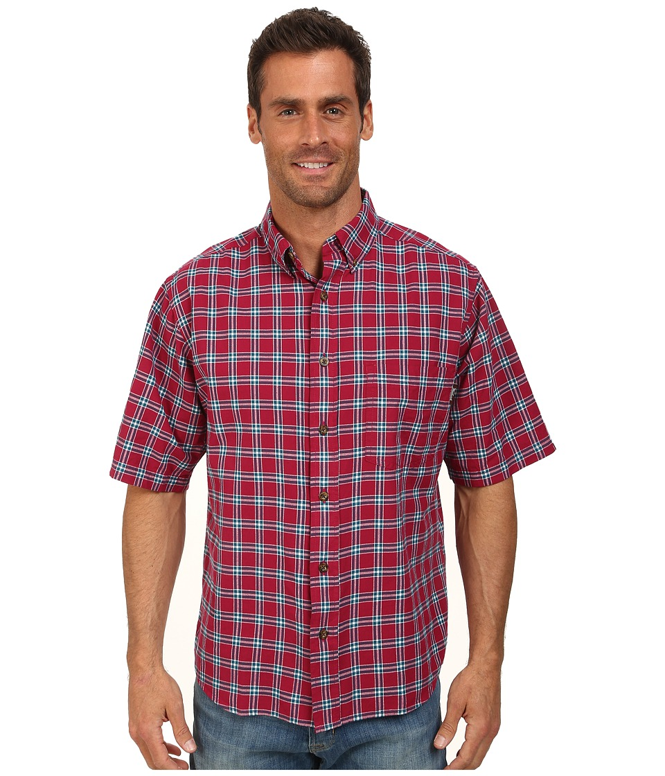 Woolrich - Weyland S/S Shirt (Red Currant) Men's Short Sleeve Button Up
