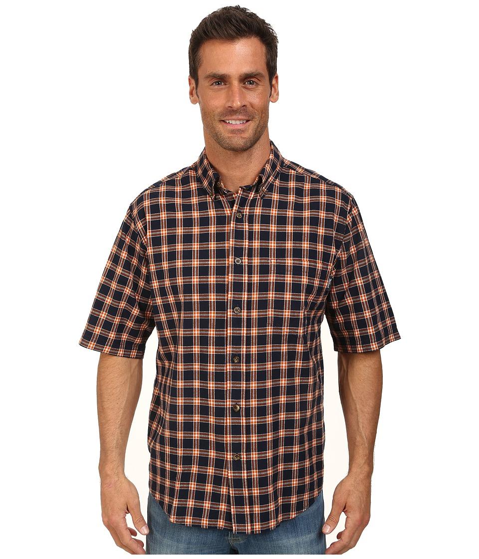 Woolrich - Weyland S/S Shirt (Deep Indigo) Men's Short Sleeve Button Up