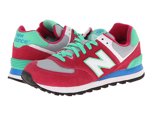 New Balance Classics - WL574 (Core Plus - Pink/Green) Women's Lace up casual Shoes