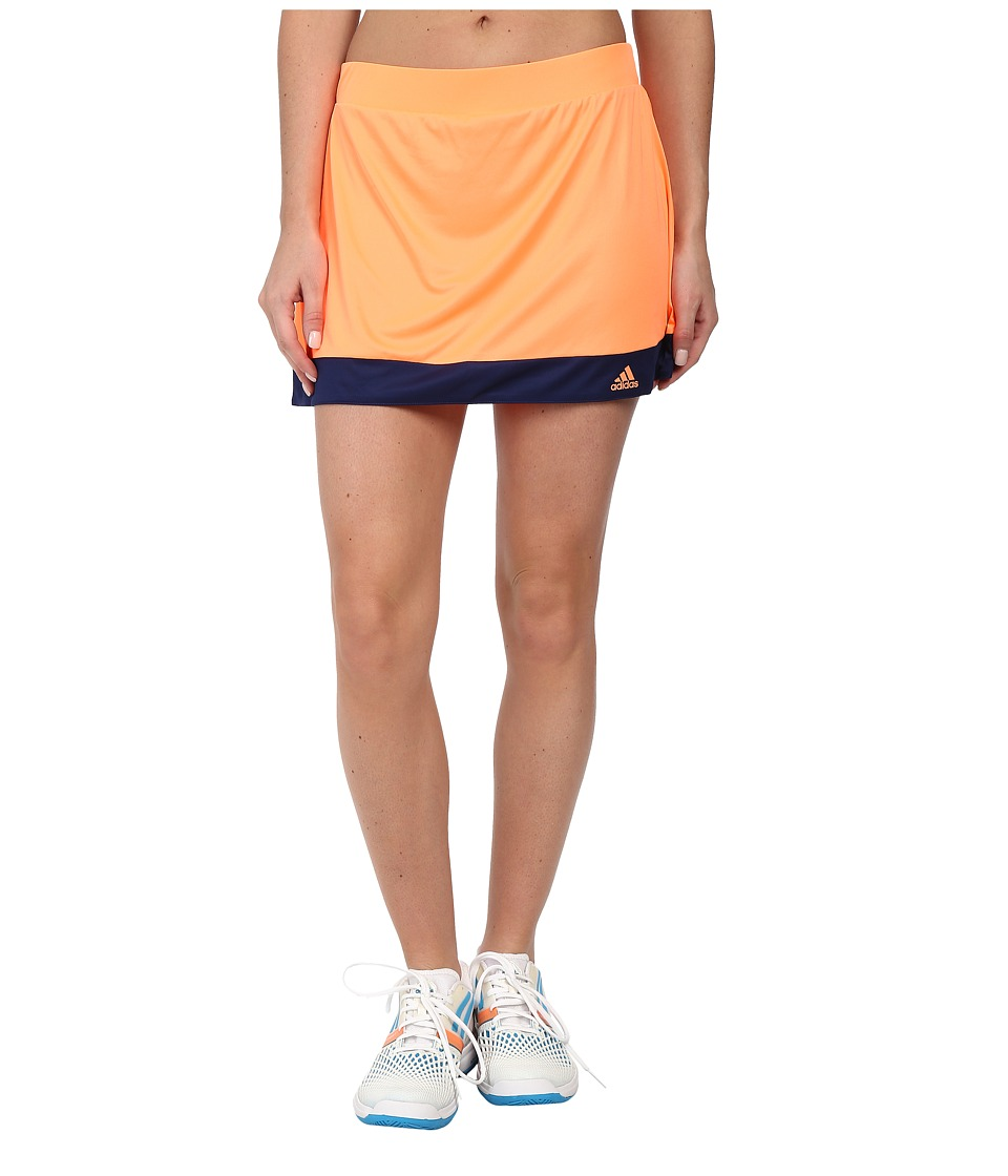 adidas - Galaxy Skort (Flash Orange/Night Sky) Women's Skort