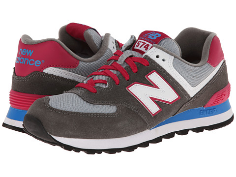 New Balance Classics - WL574 (Core Plus - Grey/Pink) Women's Lace up casual Shoes