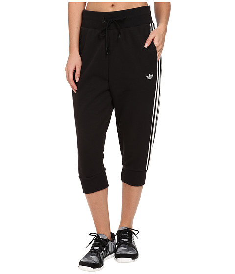 adidas Originals - Three-Quarter Track Pant (Black/White) Women's Casual Pants