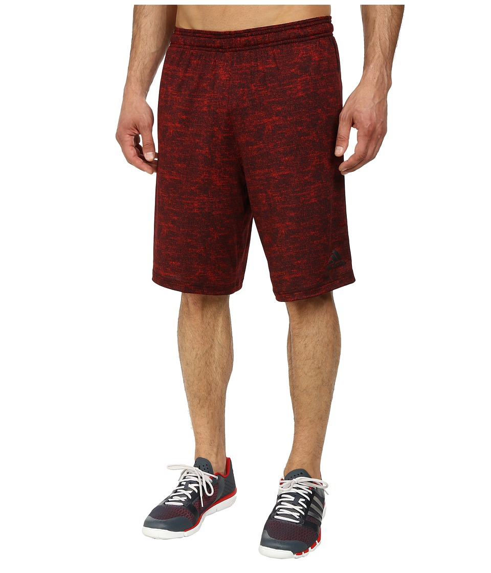 adidas - Team Issue Fitted Short (Scarlet Heather/Black) Men's Shorts