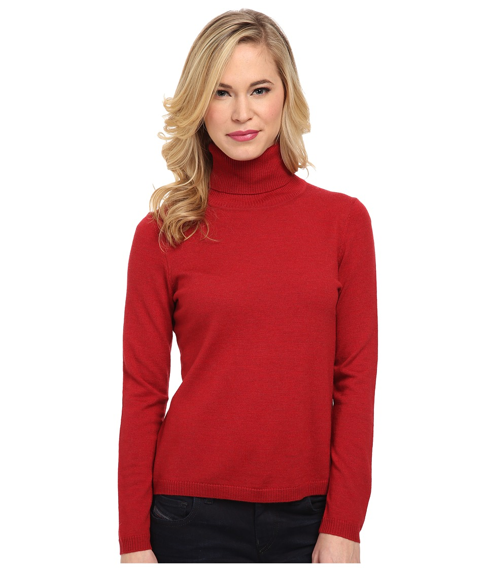Pendleton - Petite Classic Turtleneck Sweater (Red Rock Heather) Women's Long Sleeve Pullover