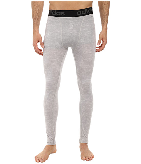 adidas - Team Issue Compression Long Tight (Medium Grey Heather) Men's Workout