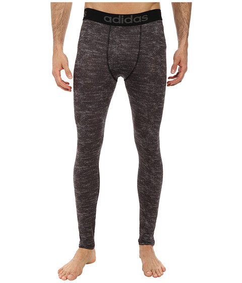adidas - Team Issue Compression Long Tight (Dark Grey Heather) Men's Workout