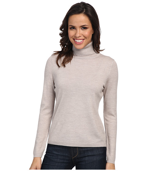 Pendleton - Classic Turtleneck Sweater (Fawn Heather) Women's Long Sleeve Pullover
