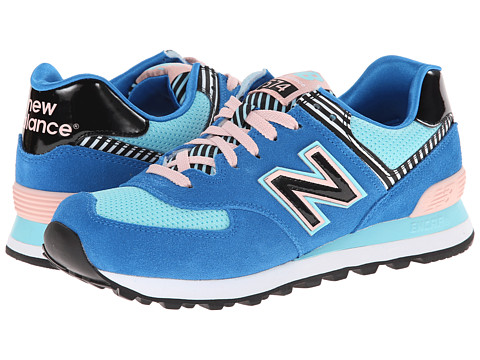 New Balance Classics - WL574 (Palm Springs - Blue/Pink) Women's Lace up casual Shoes