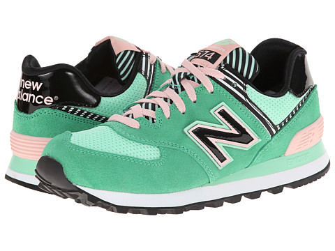 New Balance Classics - WL574 (Palm Springs - Green Pink) Women's Lace up casual Shoes