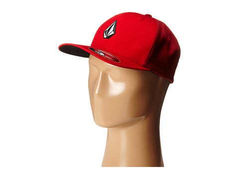 Volcom - Full Stone X-Fit FlexFit (Drip Red) Baseball Caps