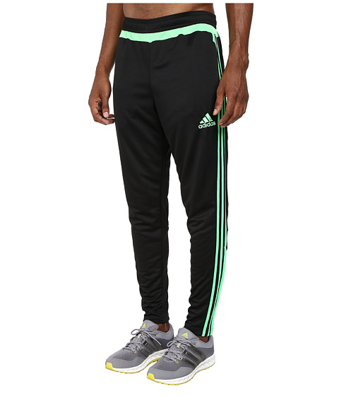 adidas - Tiro 15 Training Pant (Black/Flash Green/Black) Men's Workout