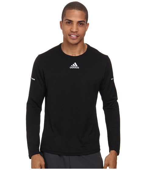 adidas - Sequencials Money L/S Tee (Black) Men's Long Sleeve Pullover