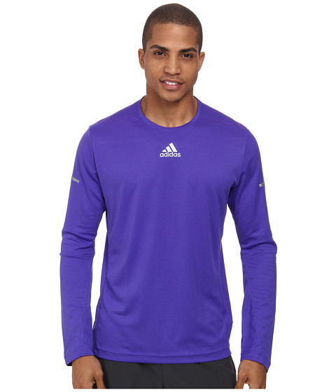 adidas - Sequencials Money L/S Tee (Night Flash) Men's Long Sleeve Pullover