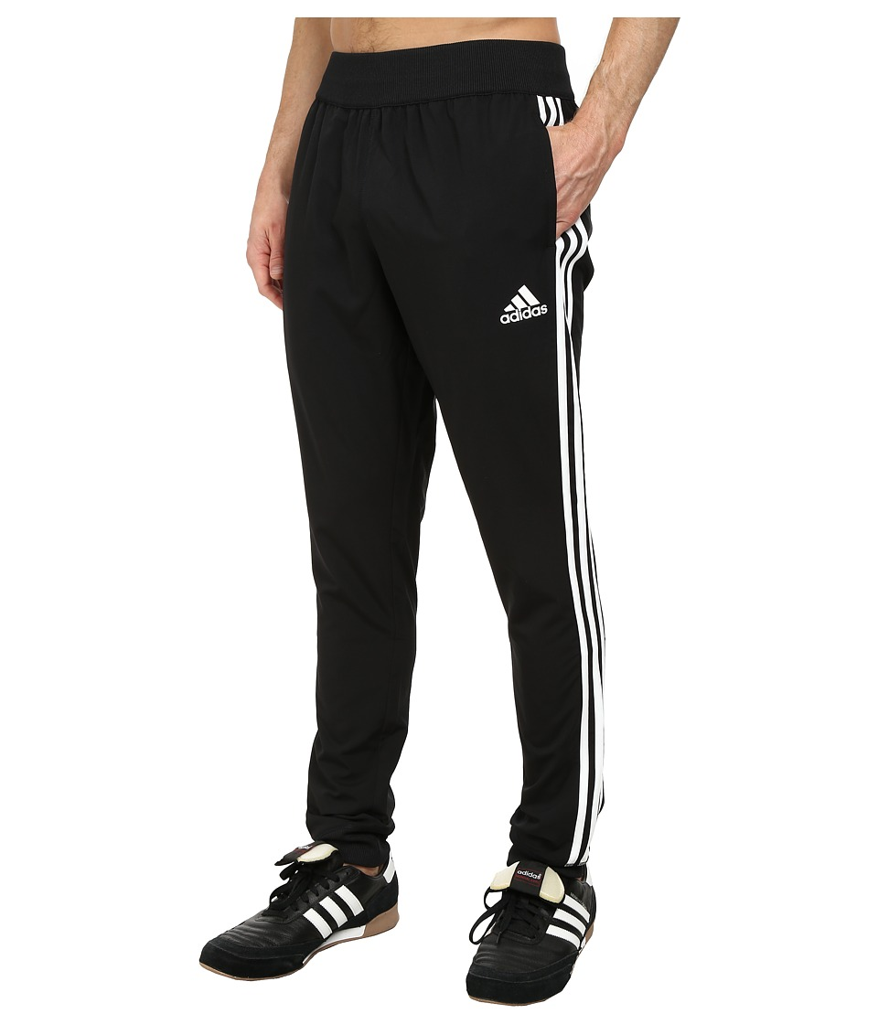 adidas - Slim 3S Woven Pant (Black/White) Men's Casual Pants