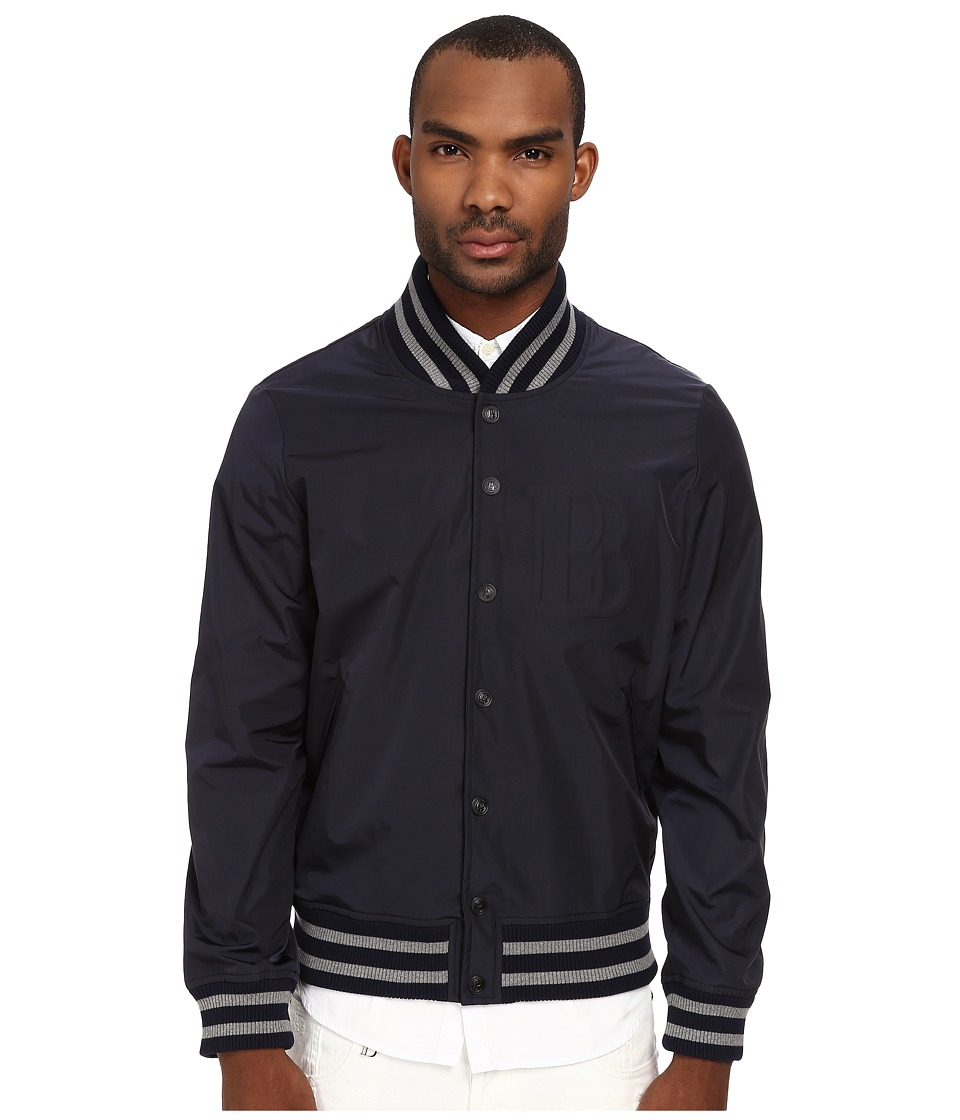 Pierre Balmain - B Logo Baseball Jacket (Blue/Grey) Men's Jacket