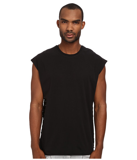 Pierre Balmain - Laced Side Muscle Tee (Black) Men's T Shirt