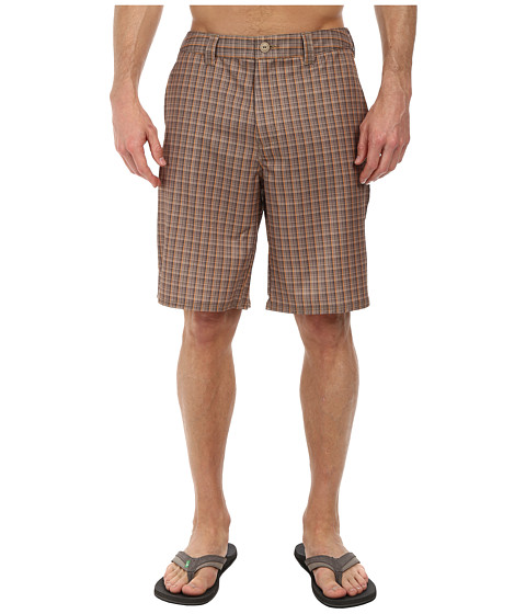 The North Face - Pure Vida Walk Short (Dune Beige Plaid) Men