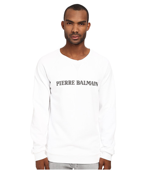 Pierre Balmain - Logo Sweatshirt (White) Men's Sweatshirt