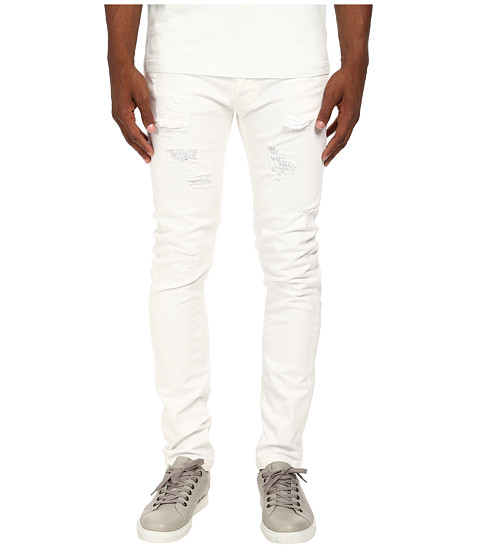 Pierre Balmain - Distressed Stretch Denim (White) Men
