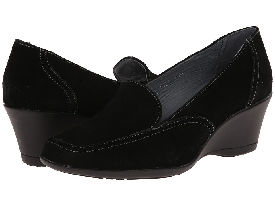 Fitzwell - Wendy (Black Suede) Women's Wedge Shoes