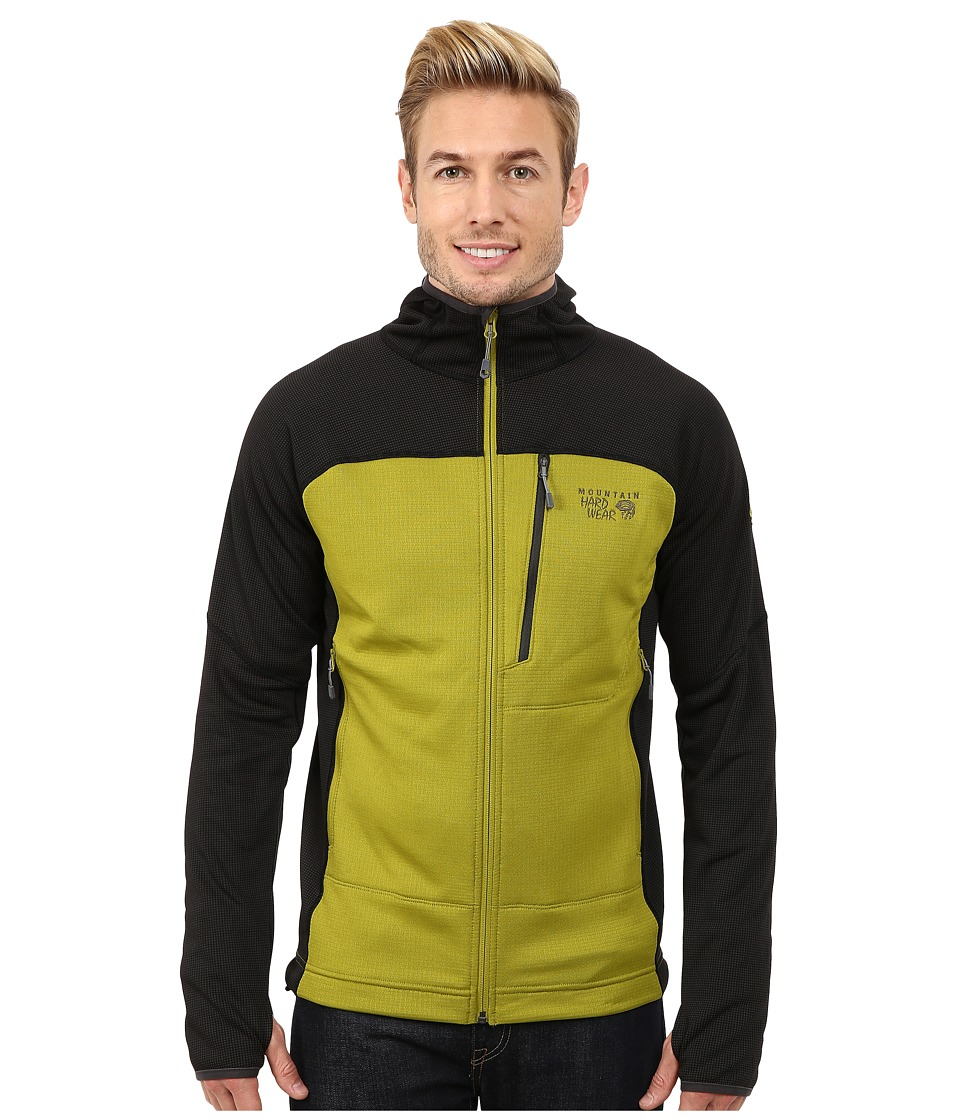 Mountain Hardwear - Desna Grid Hooded Jacket (Python Green/Shark) Men's Jacket