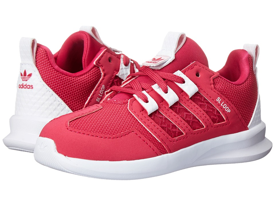 adidas Originals Kids - SL Loop Runner (Toddler) (Bold Pink/Clear Pink/White) Girls Shoes