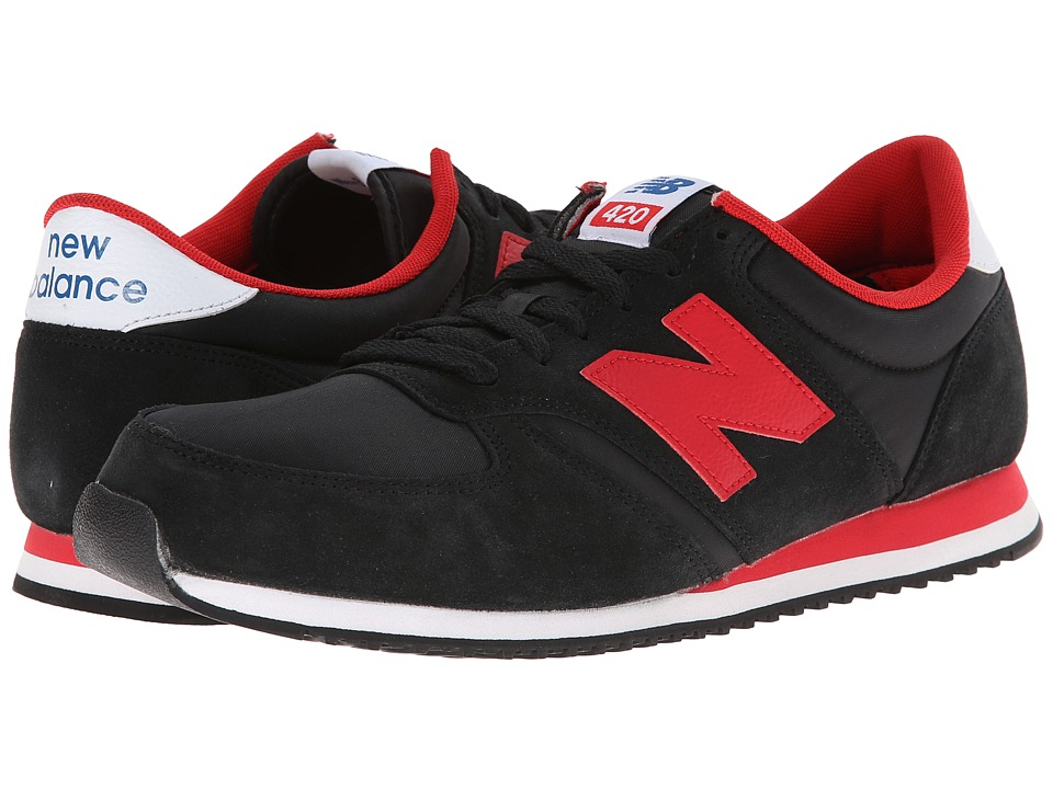 New Balance Classics - U420 (Black/Red) Men's Classic Shoes