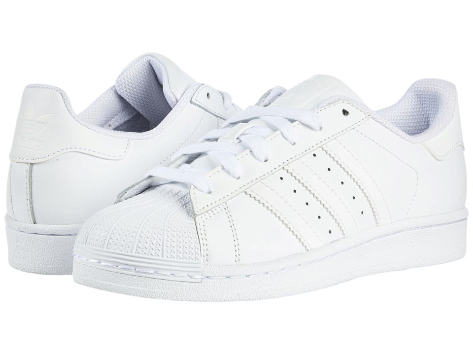 adidas Originals Kids - Superstar Foundation (Big Kid) (White/White/White) Kids Shoes