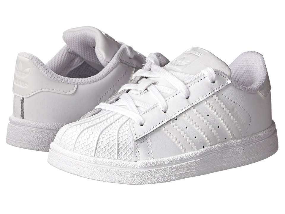 adidas Originals Kids - Superstar Foundation (Toddler) (White/White/White) Kids Shoes