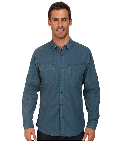 Woolrich - Windwood II Convertible L/S Shirt (Cadet Blue) Men's Long Sleeve Button Up