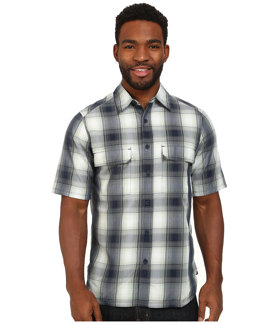 Woolrich - Enroute S/S Shirt (Deep Indigo Plaid) Men's Short Sleeve Button Up