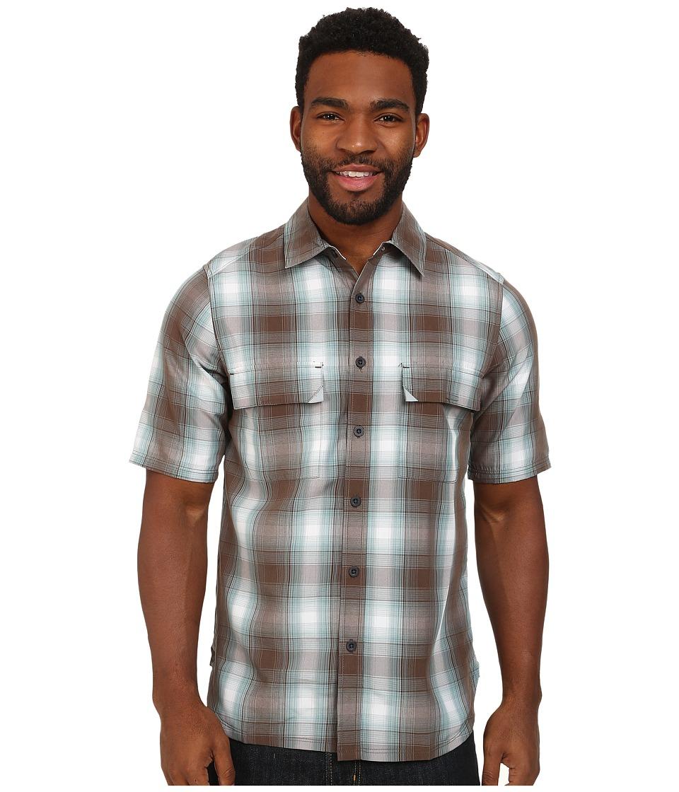 Woolrich - Enroute S/S Shirt (Field Drab Plaid) Men's Short Sleeve Button Up