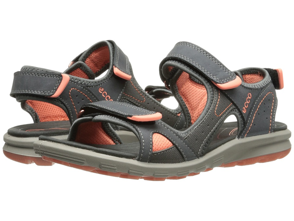 ECCO Sport Cruise Catalina Sandal (Moonless/Dark Shadow/Coral) Women