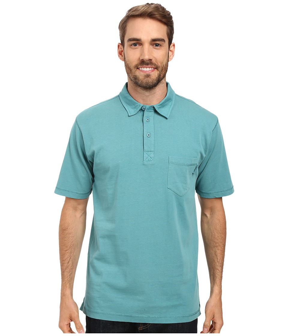 Woolrich - First Forks One-Pocket Polo (Cove) Men's Short Sleeve Pullover