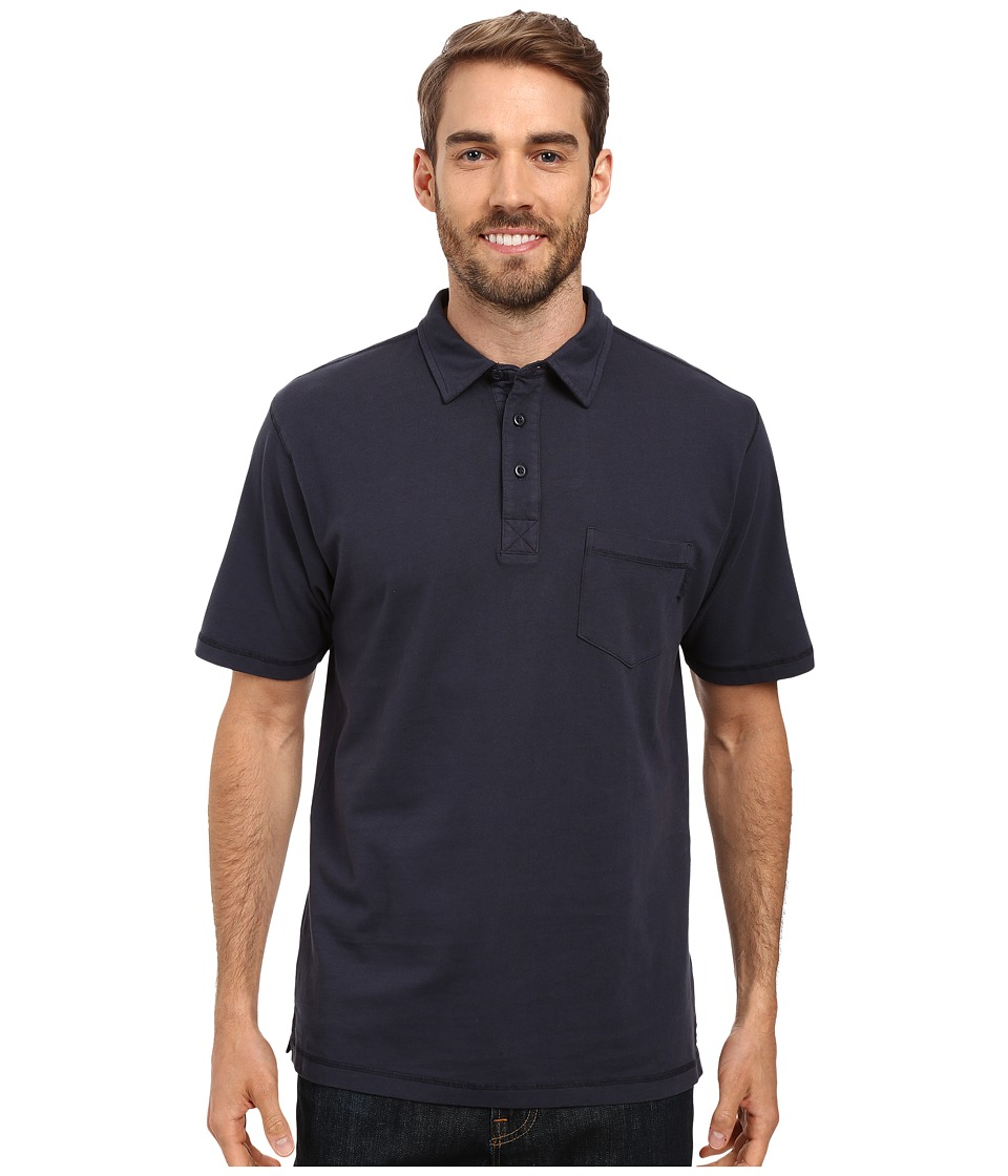 Woolrich - First Forks One-Pocket Polo (Deep Indigo) Men's Short Sleeve Pullover