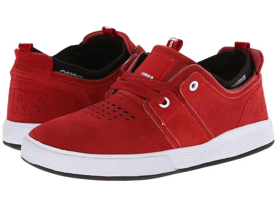 Osiris - Duffel Kickback (Red/Red/CCC) Men's Skate Shoes