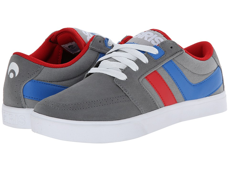 Osiris - Lumin (Grey/Red/Blue) Men's Skate Shoes