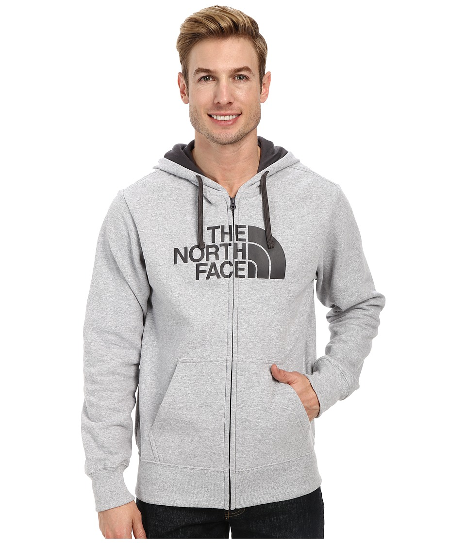 The North Face - Half Dome Full Zip Hoodie (Heather Grey/Graphite Grey) Men's Sweatshirt