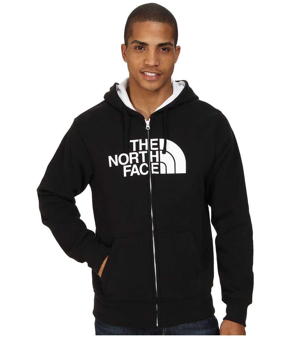 The North Face - Half Dome Full Zip Hoodie (TNF Black/TNF White) Men's Sweatshirt