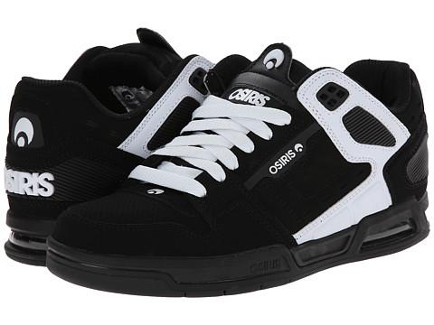 Osiris - Peril (Black/White/White) Men's Skate Shoes