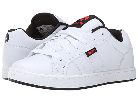 Osiris - Loot (White/Red) Men's Skate Shoes