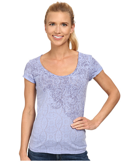 White Sierra - Cathedral Lace Tee (Deep Periwinkle) Women