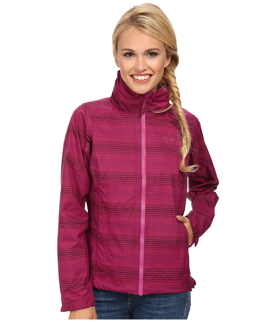 Mountain Hardwear - Plasmic Ion Printed Jacket (Red Plum) Women's Jacket