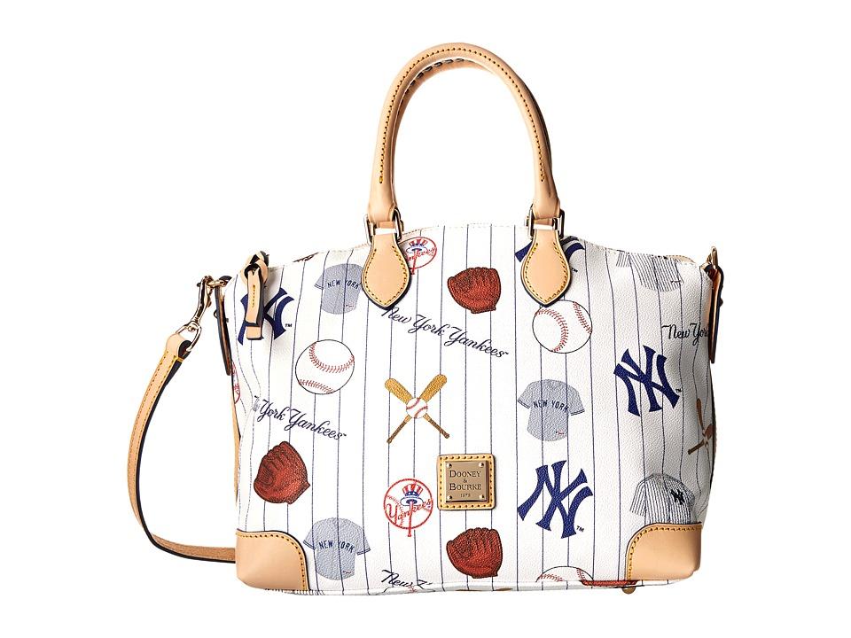Dooney & Bourke - MLB Satchel (Yankees/White) Satchel Handbags