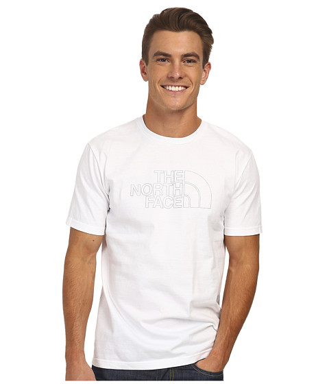 The North Face - S/S Outline Logo Tee (TNF White) Men